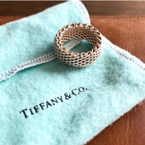 EUC Tiffany & Co. Somerset mesh ring